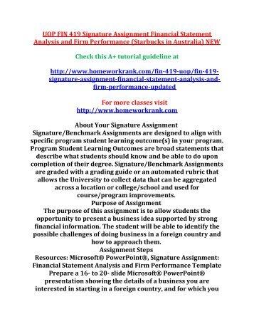 financial statement analysis paper