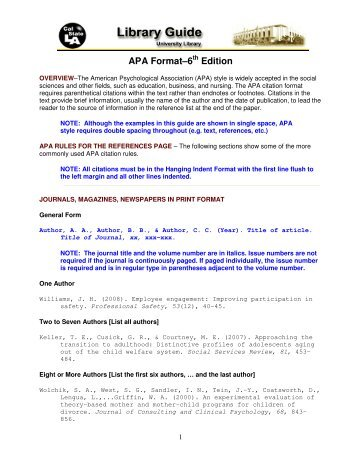 Apa quiz answers 1 according to apa format the list of for Apa version 6 template
