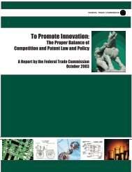 To Promote Innovation - Federal Trade Commission