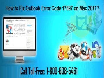 Call +1-800-608-5461 To Fix Outlook Error Code 17897 in Mac