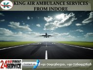 Low budget King Air Ambulance Services in Indore