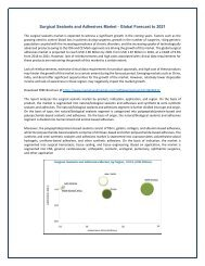 Surgical Sealants and Adhesives Market - Global Forecast to 2021