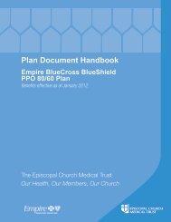 Empire BCBS PPO 80/60 Handbook - Church Pension Group