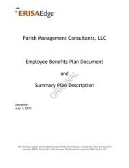 Group Point of Service Benefit Plan - Parish Management Consultants