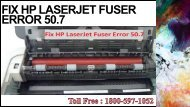 Fix HP LaserJet Fuser Error 50.7 +1-800-597-1052