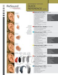quick reference guide - Resound Goverment Services Page - GN ...