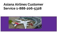 Asiana Airlines Customer service Number 1-888-206-5328 |Phone Number