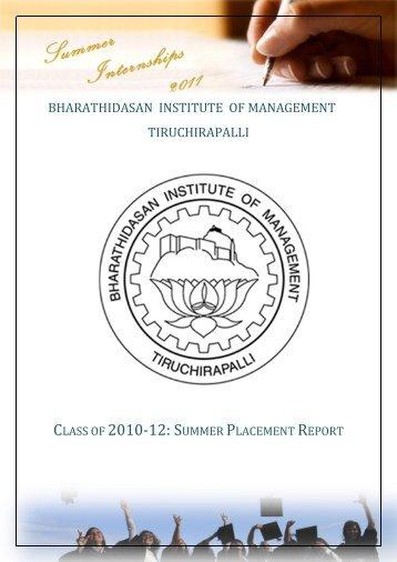 Up - Bharathidasan Institute of Management