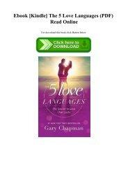 Ebook [Kindle] The 5 Love Languages (PDF) Read Online