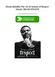Ebook [Kindle] The Art & Science of Respect Ebook  READ ONLINE