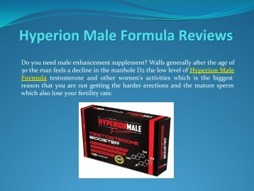 The Hidden Mystery Behind Hyperion Male Formula