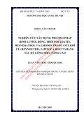 Nghiên cứu xây dựng phương pháp định lượng đồng thời polydatin, resveratrol và emodin trong cốt khí củ (reynoutria japonica houtt) bằng sắc ký lỏng hiệu năng cao - Page 2