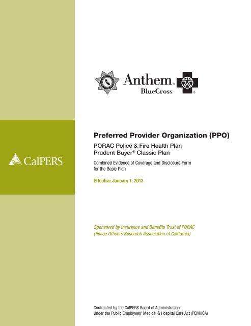 Anthem Preferred Provider Organization (PPO) - CalPERS On