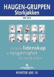 Haugen-Gruppen Storkjøkken - Mai 2018