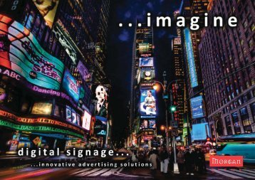 Digital signage systems brochure - Morgan Signs