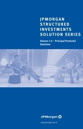 JPMORGAN STRUCTURED INVESTMENTS SOLUTION SERIES ...