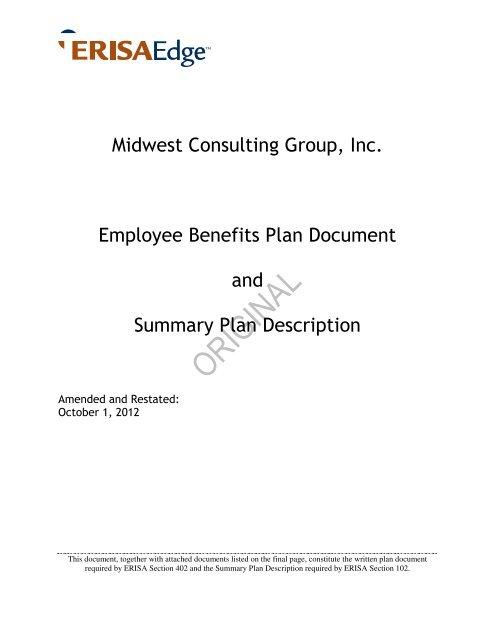 edical - ERISA MegaWrap Document - Midwest Consulting Group