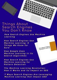 Things About Search Engines You Don't Know