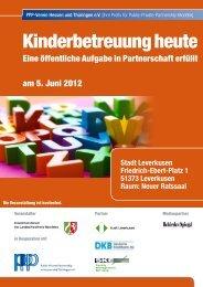 Einladung Kitas Leverkusen - Public Private Partnership Initiative ...