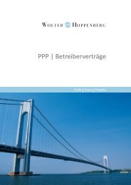 PPP | Betreiberverträge - Wolter Hoppenberg