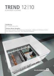 TREND 12 10 (Nr. 22) - Kleusberg GmbH & Co. KG