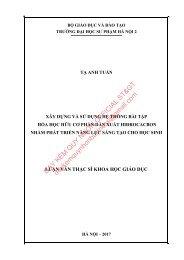 Xây dựng và sử dụng hệ thống bài tập hóa học hữu cơ phần dẫn xuất hiđrocacbon andehit xeton axit cacboxylic (2017)