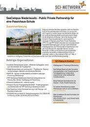 SeeCampus Niederlausitz - Public Private ... - SCI Network