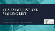 CPA Email List and Mailing List