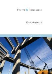 Planungsrecht - Wolter Hoppenberg
