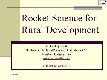 lanstove - Nimbkar Agricultural Research Institute