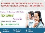Gps tomtom map updates number Australia + 61-1800-215-732