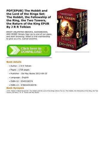 Download Pdf The Hobbit And The Lord Of The Rings Set The Hobbit