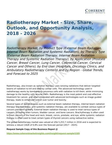 Radiotherapy Market Forecast to 2025