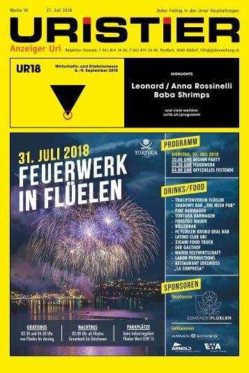 30.2018 Uristier  Der Urner Gratisanzeiger