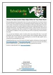 Choose the Best Custom Poker Chips Online for Your Poker Room