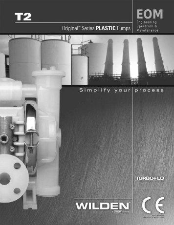 "T2 -25 mm (1"") Plastic Pump EOM - PSG Dover"