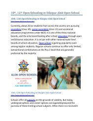 10th, 12th Open Schooling in Udaipur