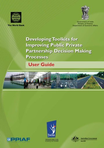 User Guide Developing Toolkits for Improving Public ... - PPP Toolkit
