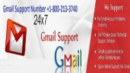 Gmail Support Number +1-800-213-3740
