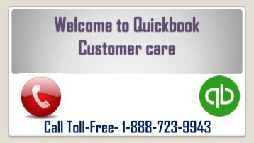 How to get help with Quickbook Customer Care + 1-888-723-9943