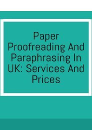 Paper Proofreading and Paraphrasing in UK: Services and Prices