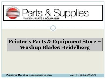Buy Washup Blades Heidelberg at Shop.PrintersParts