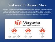 Magento Development Company- Magento Store