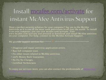 McAfee MAV Retailcard By McAfee.com/Activate