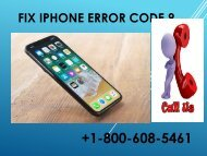 Fix iPhone Error Code 9 1-800-608-5461