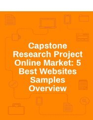 Capstone Research Project Online Market: 5 Best Websites Samples Overview