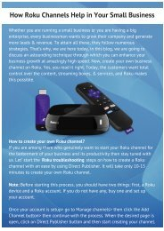Grow your Business With the help of Roku Channel