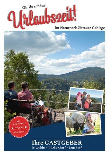 Gastgeberverzeichnis Zittauer Gebirge 2018