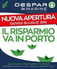 Despar Messina Volantino 26 luglio 8 agosto 2018 Nuova Apertura Capo D'Orlando
