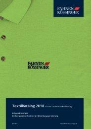 Fahnen Kössinger, Textilkatalog
